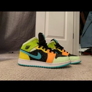 Nike Air Jordan 1 multicolor and reflective